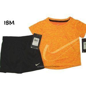 Big Swoosh Nike Tee Shorts Set 2 pc Boys Outfit